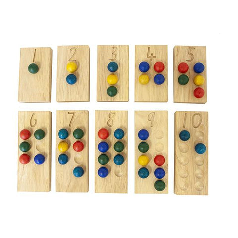 Wooden math counting set | Educational toys | Lucas loves cars