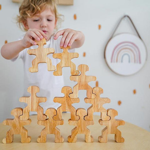 Wooden stacking people |  Stacking toy | Australian toy store | Lucas loves cars