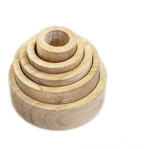 Natural wooden stacking bowls  | Toys for 2 year olds  | Lucas loves cars