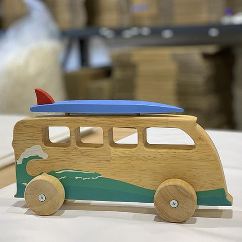 Wooden surf van | wooden toys Australia | Lucas loves cars