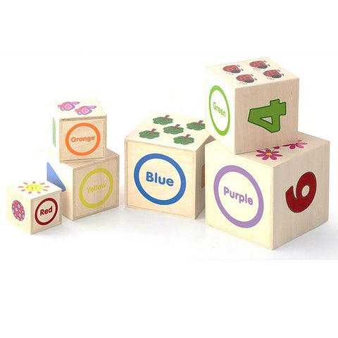 Wooden stacking boxes