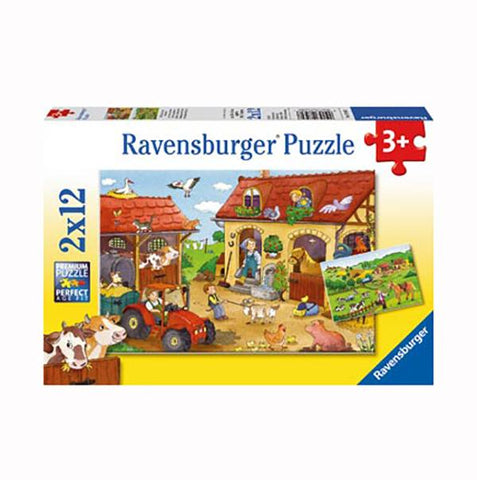 Ravensburger puzzles | Working on the farm | Kids jigsaws | Lucas loves cars