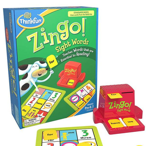 Zingo Sight Words | Think fun | logic games | Lucas loves cars