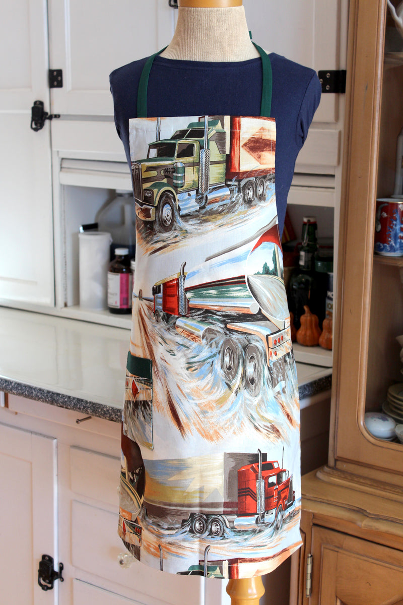 18 Wheeler Big Rig Kid's Apron
