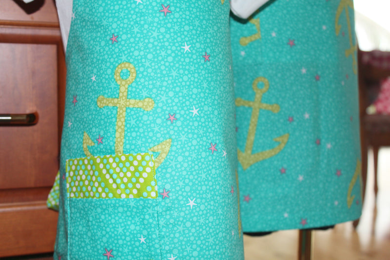 Anchors Away Kid's Apron