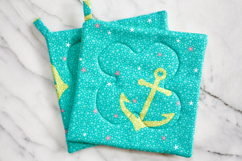 Anchors Away Potholder