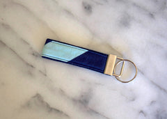 Aquatic Stripe Key Fob