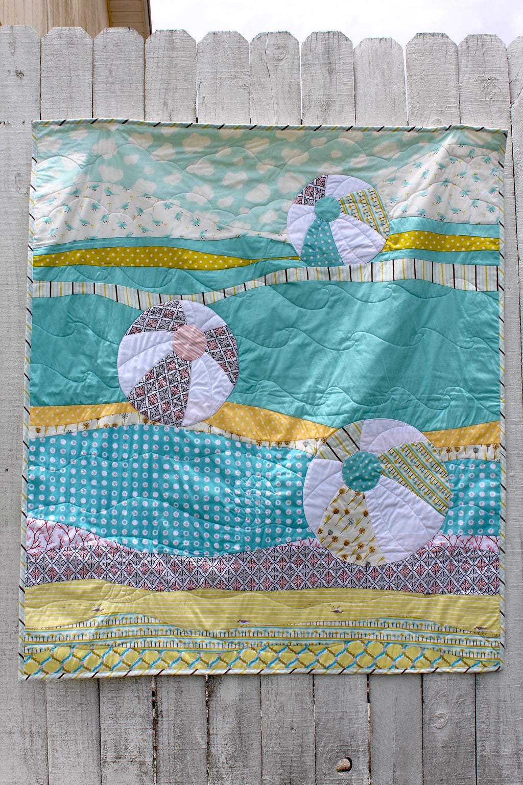 Beach Balls on Siesta Key Organic Quilt