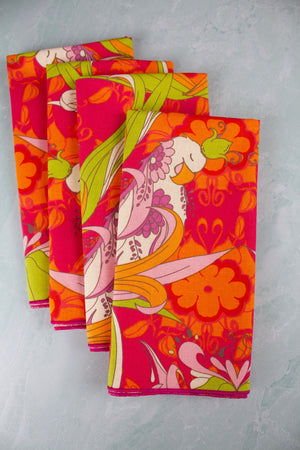 Bird of Paradise Linen Napkins - (Set of 4)