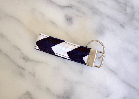 Black Chevron Key Fob