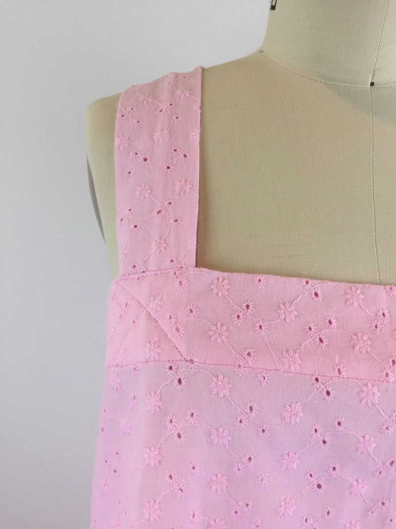Blossom Crossback Cotton Eyelet Apron