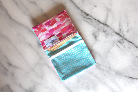Brushstroke Mini Wallet - Blush