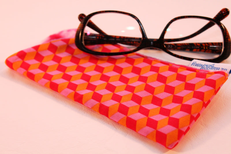 Building Blocks (Orange) Sunglass Case
