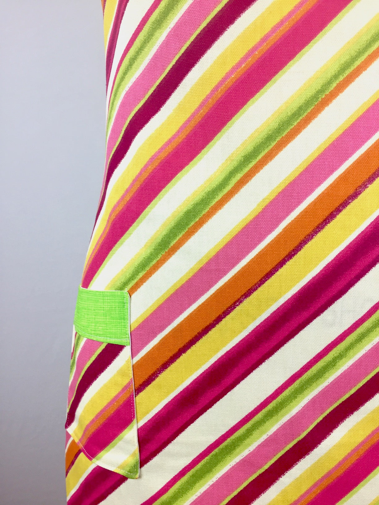 Candy Stripe Canvas Apron