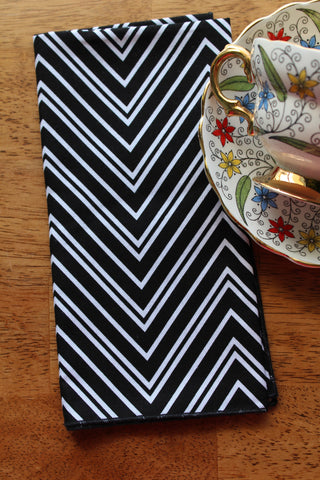 Chevron Stripe Napkins (Set of 4)