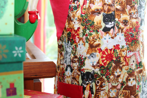 The Nine Lives of Christmas Cats Kid's Apron