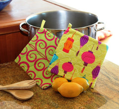 Party Lantern Citron Potholder