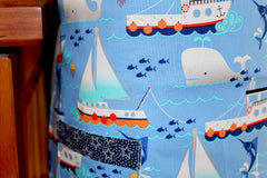 Fishing Boats and Whale Tails Kid's Apron