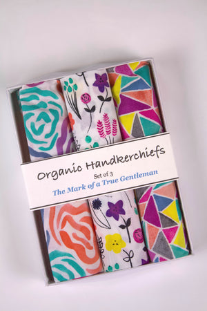 Flowers and Facets Organic Handkerchief Set