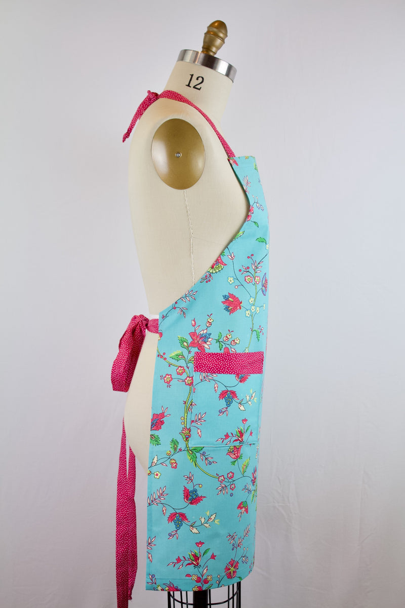 French Floral Chef Apron
