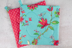 French Floral Potholder