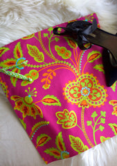 Garden Party (Pink) Shoe Bag / Lingerie Bag