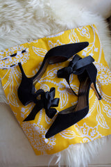 Garden Party (Yellow) Shoe Bag / Lingerie Bag