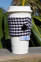 Gingham Coffee Cozy