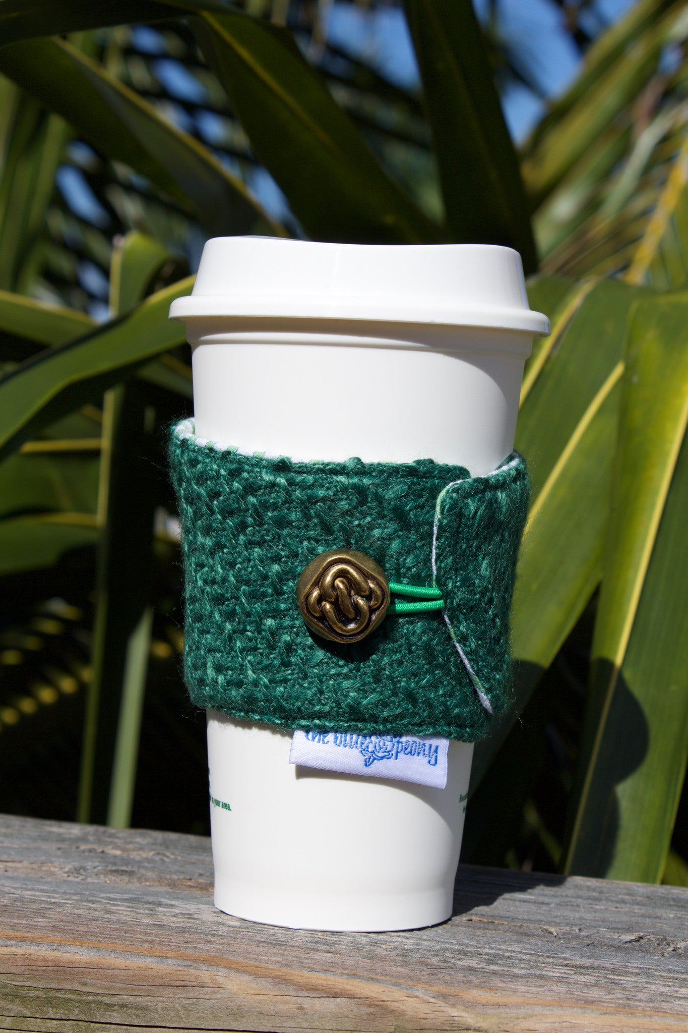 Green Boucle Coffee Cozy