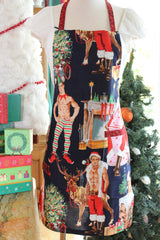 Hurry Down the Chimney Apron - Navy
