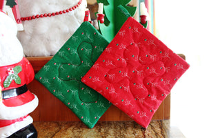 Holiday Trees Potholder