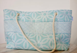The Carryall (with style) Tote Bag - Sparkling Sea