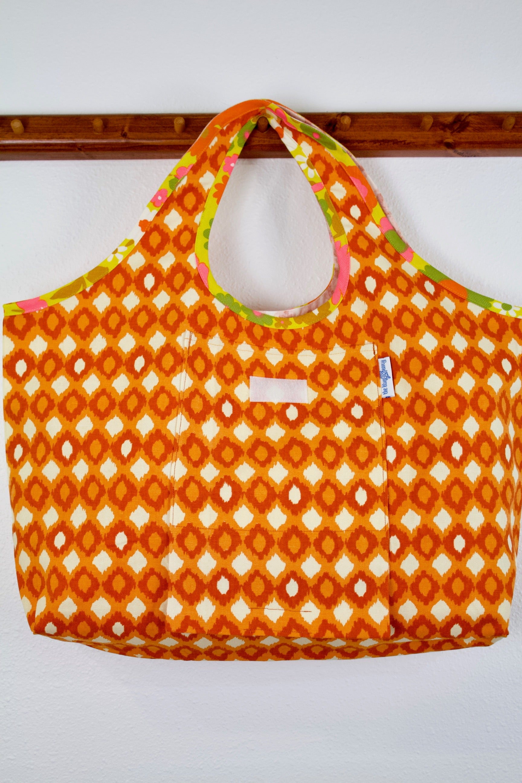 Bittersweet Tangerine Folding Shopping Tote