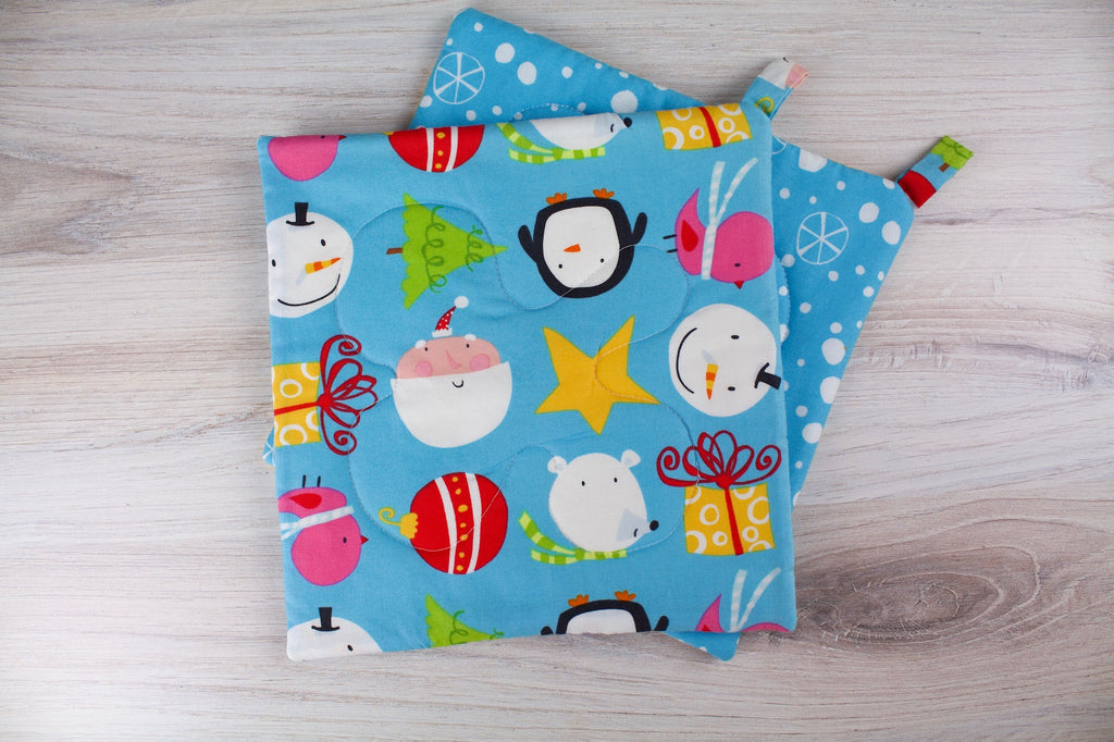 Winter Friends Potholder
