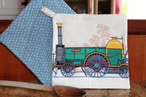 Vintage Train Potholder - Queen