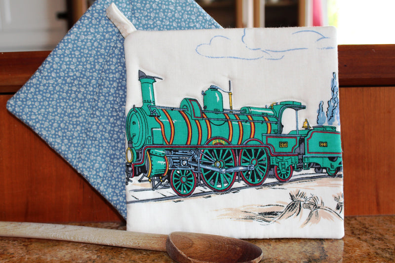 Vintage Train Potholder