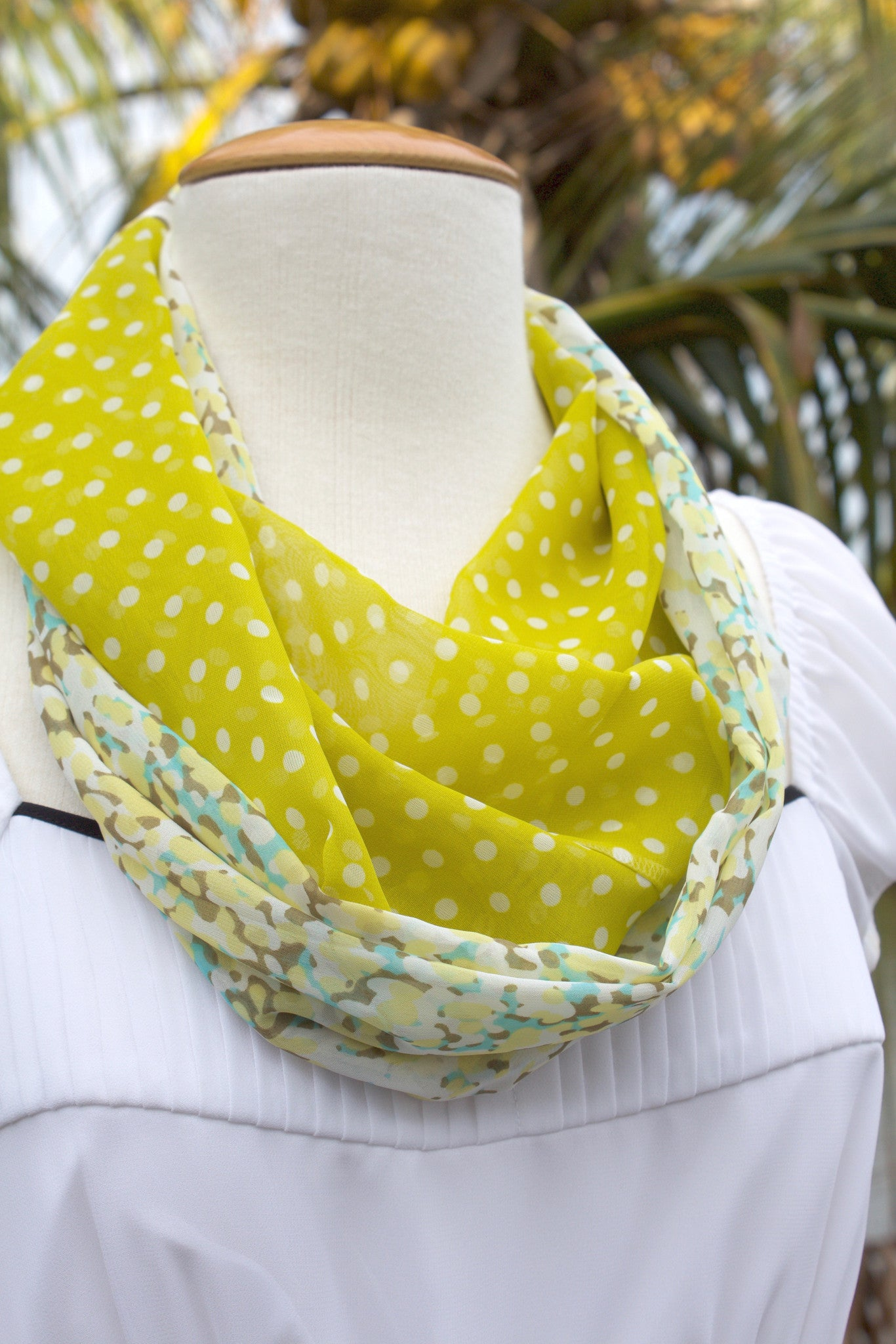 Lime Twist Infinity Scarf