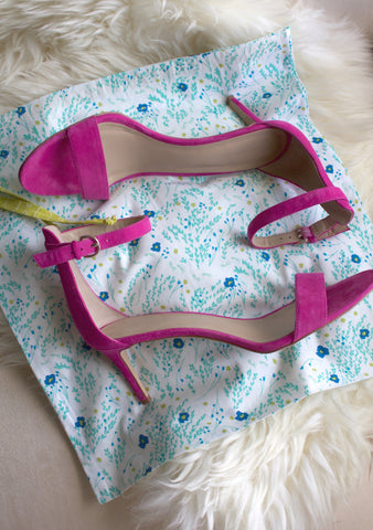 Meadow (Blue) Shoe Bag / Lingerie Bag