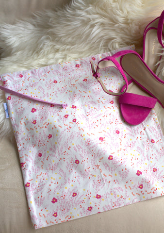 Meadow (Pink) Shoe Bag / Lingerie Bag
