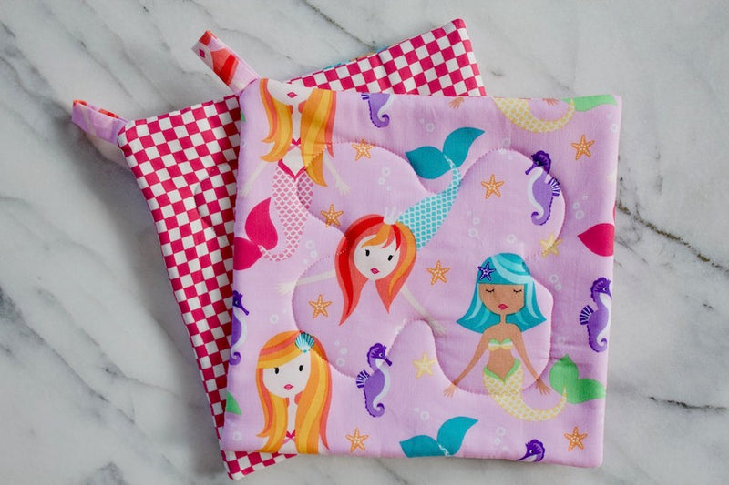 Mermaid Play Potholder