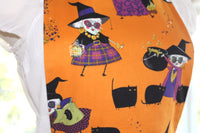 Mona Makes Magic Vienna Style Halloween Apron - Stripe
