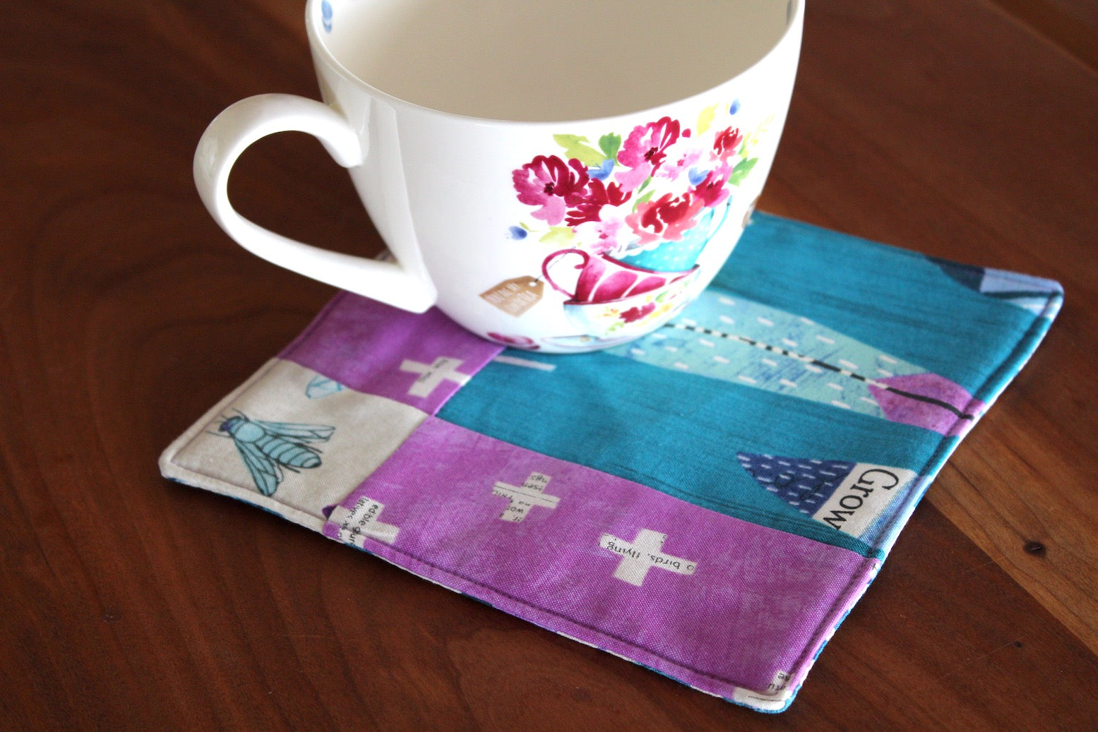 Mother Earth Mug Rug - Cascade
