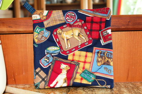 Show Dogs Potholder - Navy