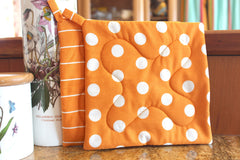 Vintage Rock Potholder - Orange