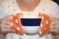 Papaya Dot Mini Potholders