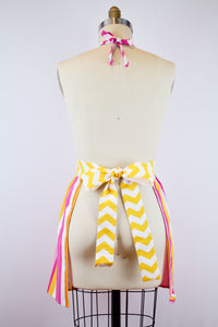 Summer Soiree Collection - Pink Houndstooth Apron