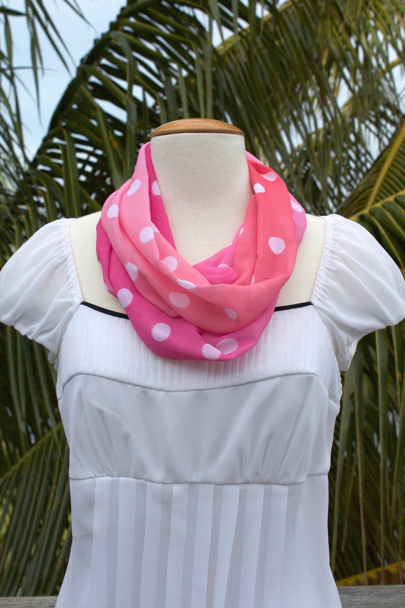 Pink Ombre Infinity Scarf