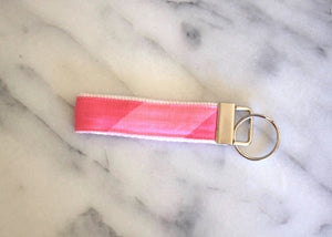 Pink Stripe Key Fob