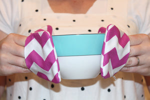 Chevron Mini Potholders - Pink