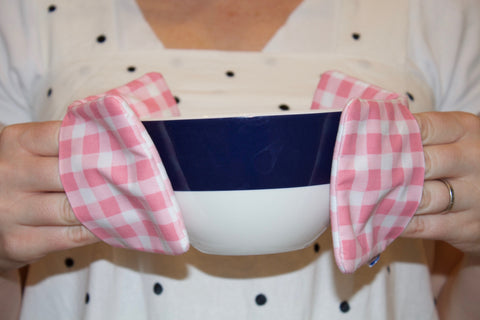 Pink Gingham Mini Potholders